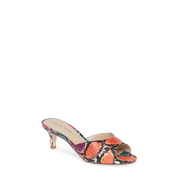ペレモーダ レディース サンダル シューズ Bea Snake Embossed Sandal Bright Multi Snake Print