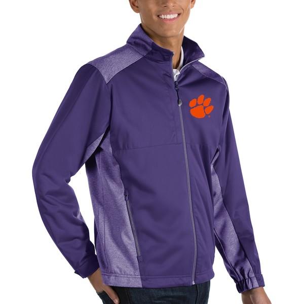 アンティグア メンズ ジャケット&ブルゾン アウター Clemson Tigers Antigua Revolve Full-Zip Jacket Purple