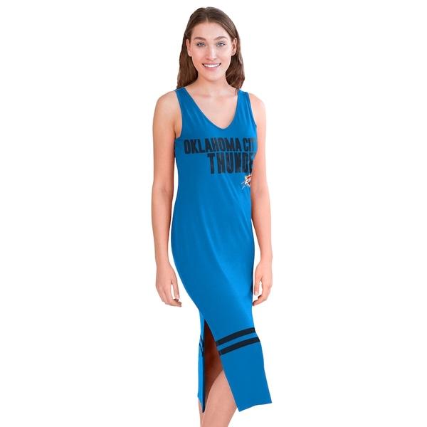 カールバンクス レディース ワンピース トップス Oklahoma City Thunder G-III 4Her by Carl Banks Women's Opening Day Maxi Dress Blue