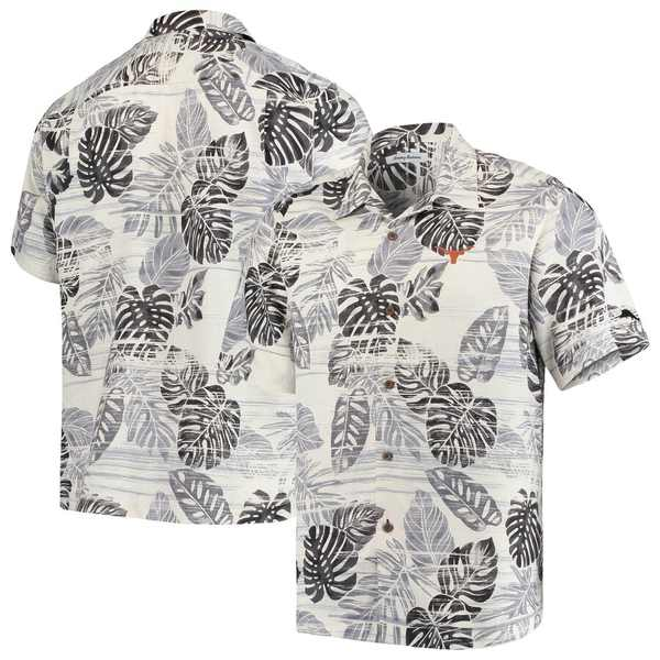 トッミーバハマ メンズ シャツ トップス Texas Longhorns Tommy Bahama Super Fan Camp Shirt Black