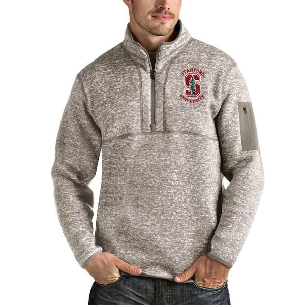 アンティグア メンズ ジャケット&ブルゾン アウター Stanford Cardinal Antigua Fortune Half-Zip Pullover Jacket Oatmeal