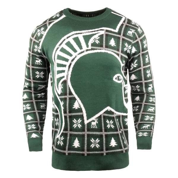 フォコ メンズ シャツ トップス Michigan State Spartans Big Logo Sweater Green
