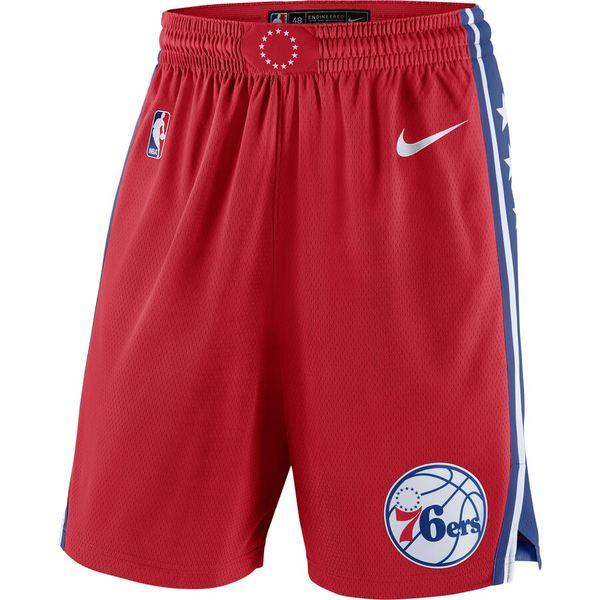 ナイキ メンズ ハーフ&ショーツ ボトムス Philadelphia 76ers Nike Statement Swingman Basketball Shorts Red