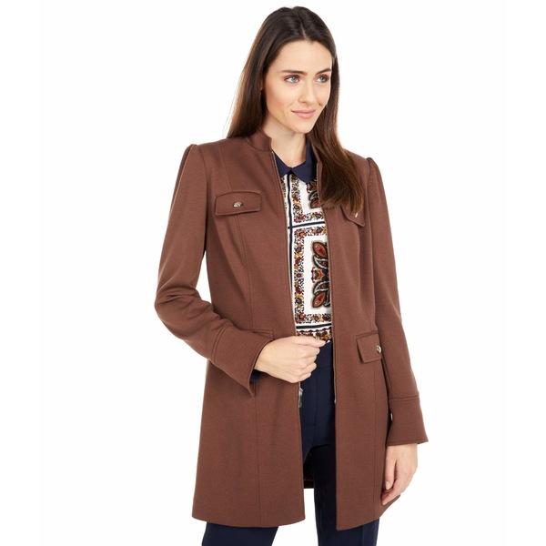 トミー ヒルフィガー レディース アウター コート Chicory 男女兼用 Ponte Front Zip 全商品無料サイズ交換 Jacket Topper セール特価