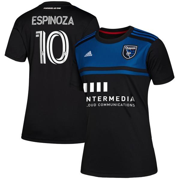 アディダス レディース ユニフォーム トップス Cristian Espinoza San Jose Earthquakes adidas Women's 2020 Primary Replica Jersey Blue