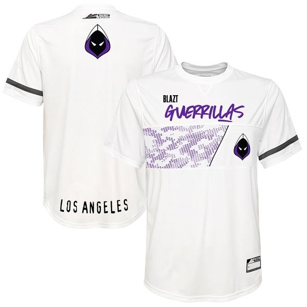アウタースタッフ メンズ ユニフォーム トップス Blazt Los Angeles Guerrillas Home Jersey White
