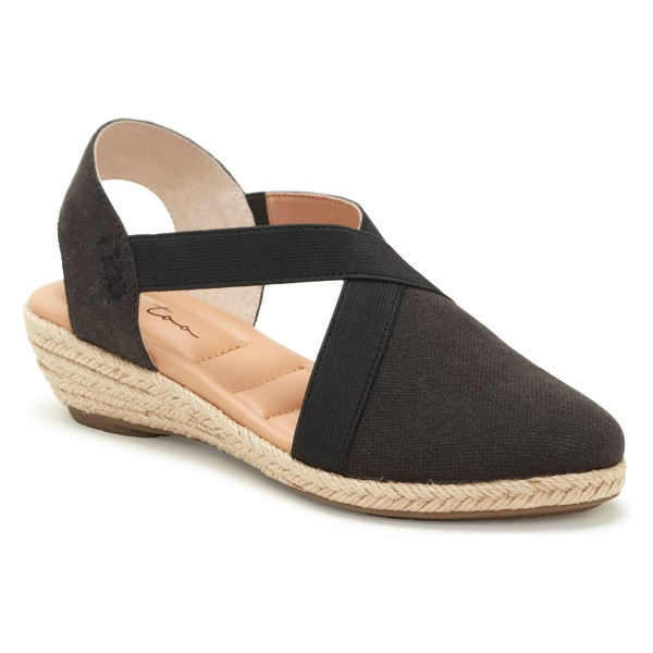 ミートゥー レディース サンダル シューズ Me Too Nissa Espadrille Wedge (Women) Black Canvas Multi