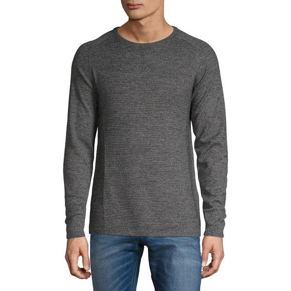 セレクテッドオム メンズ ニット&セーター アウター Textured Cotton Sweater Titanium