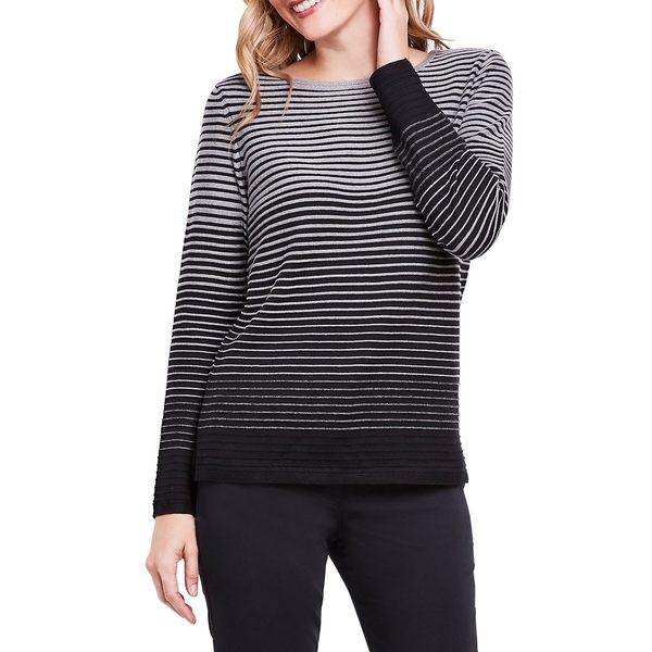 オルセン レディース ニット&セーター アウター Gradient Striped Sweater Black