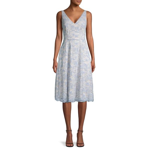 ヴィンスカムート レディース ワンピース トップス Sleeveless Lace A-Line Dress Sky