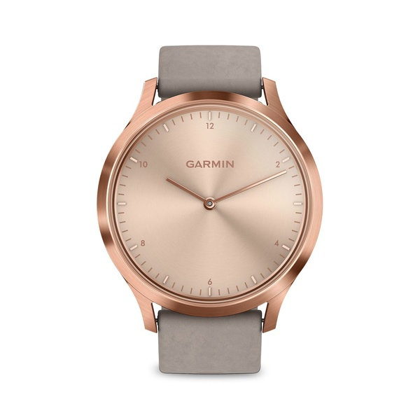 ガーミン レディース 腕時計 アクセサリー Vivomove Rose Goldtone Stainless Steel & Suede-Strap Smart Watch Pink
