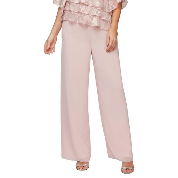 アレックスイブニングス レディース カジュアルパンツ ボトムス Wide Leg Chiffon Pants Shell Pink