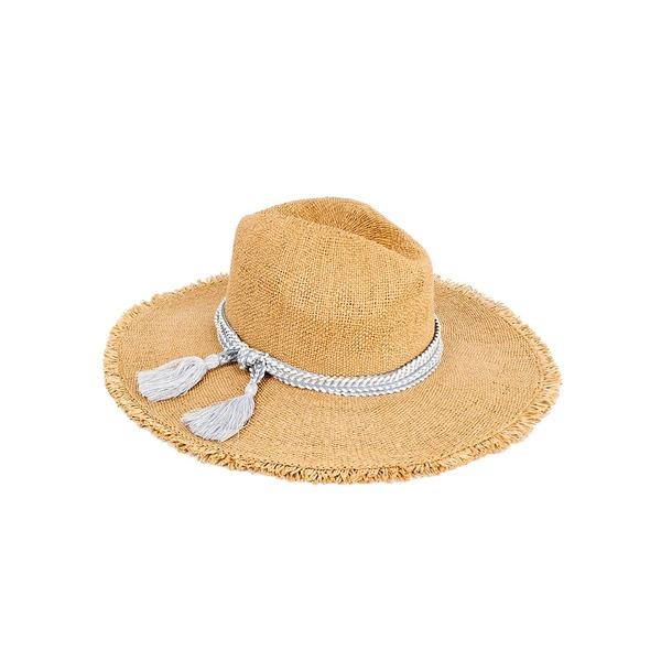 ピーターグリム レディース 帽子 アクセサリー Marilyn Tassel Packable Sun Hat Tan