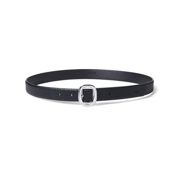 ラルフローレン レディース ベルト アクセサリー Pebbled Faux-Leather Belt Black