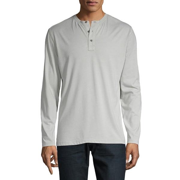サーフサイドサプライ メンズ シャツ トップス Long-Sleeve Henley Top Mirage Grey