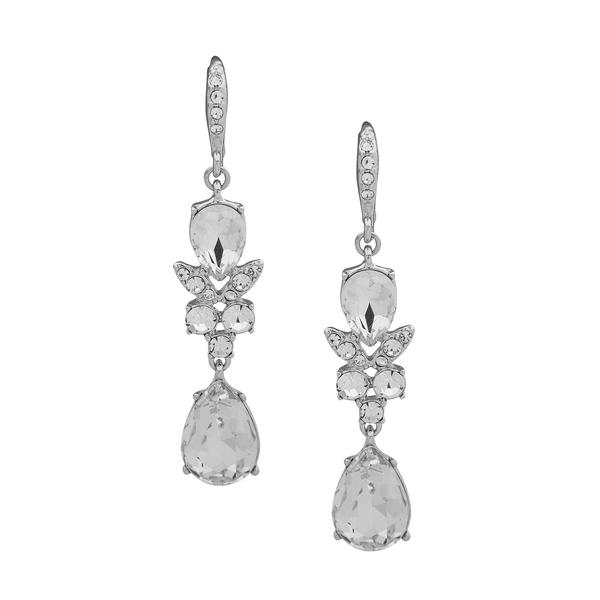 ジバンシー レディース ピアス&イヤリング アクセサリー Crystal Double Drop Earrings Silver