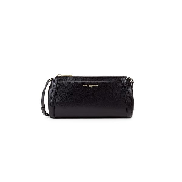 カールラガーフェルド レディース ショルダーバッグ バッグ Willow Leather Crossbody Bag Black