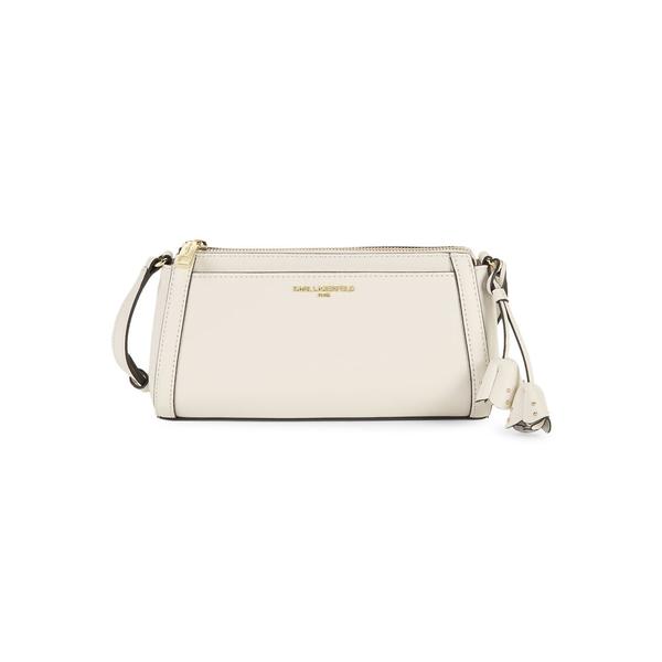 カールラガーフェルド レディース ショルダーバッグ バッグ Willow Leather Crossbody Bag Winter White