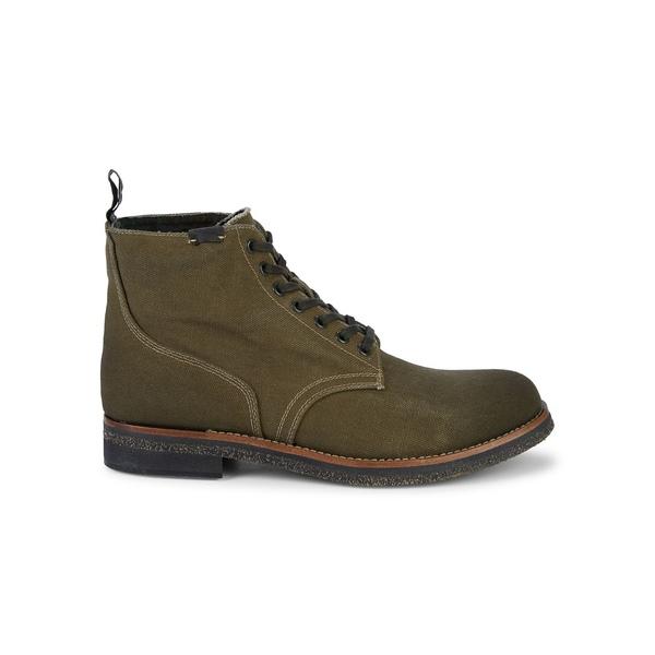 ラルフローレン メンズ ブーツ&レインブーツ シューズ Waxed Canvas Ankle Boots Clover