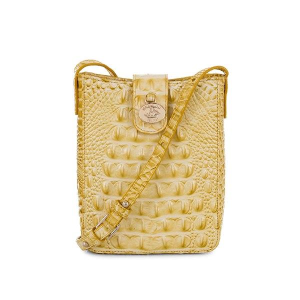 ブランミン レディース ハンドバッグ バッグ Melbourne Marley Leather Crossbody Bag Lemonade