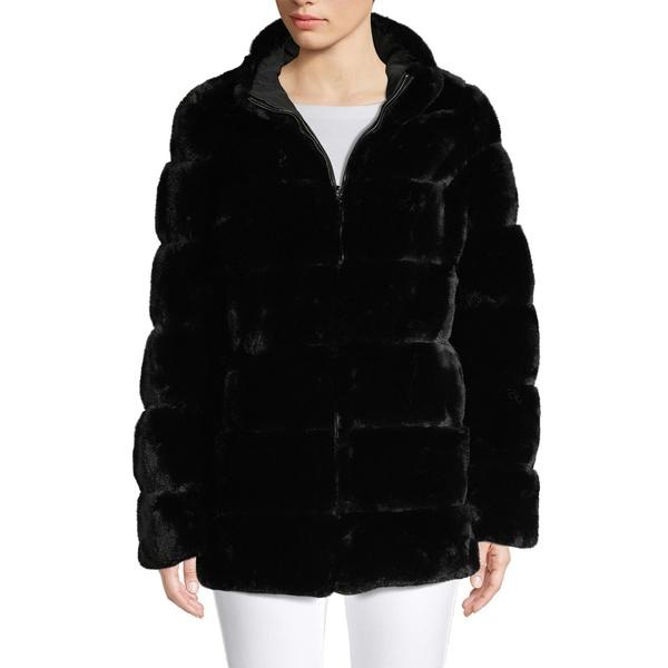 ヴィアスピガ レディース コート アウター Reversible Faux Fur Coat Black