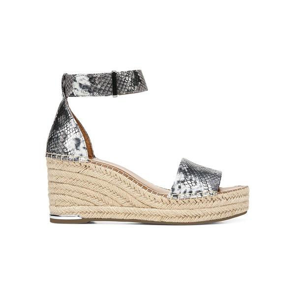 フランコサルト レディース サンダル シューズ Cramer Leather Espadrille Sandals Silver