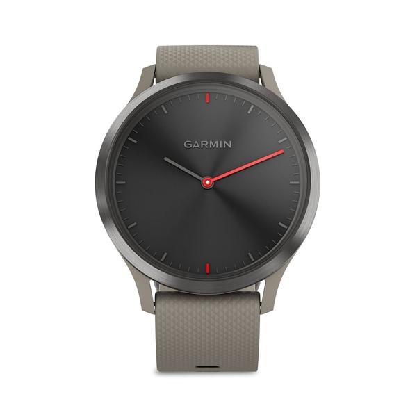 ガーミン レディース 腕時計 アクセサリー Vivomove HR Sandstone with Slate Hardware Silicone-Strap Smart Watch Slate