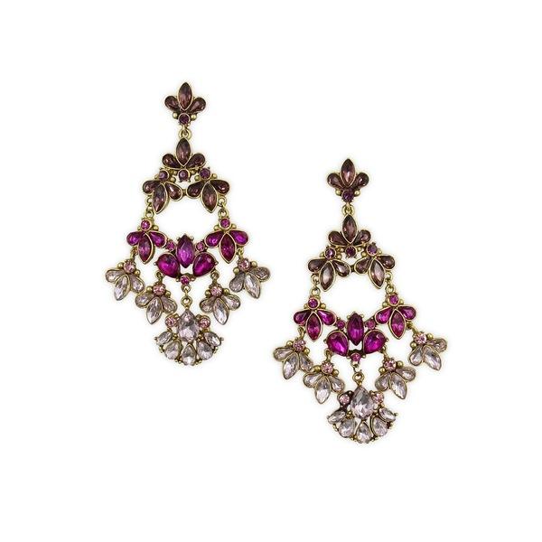 バッジェリーミシュカ レディース ピアス&イヤリング アクセサリー Pink Ombré Stone Cluster Earrings Pink
