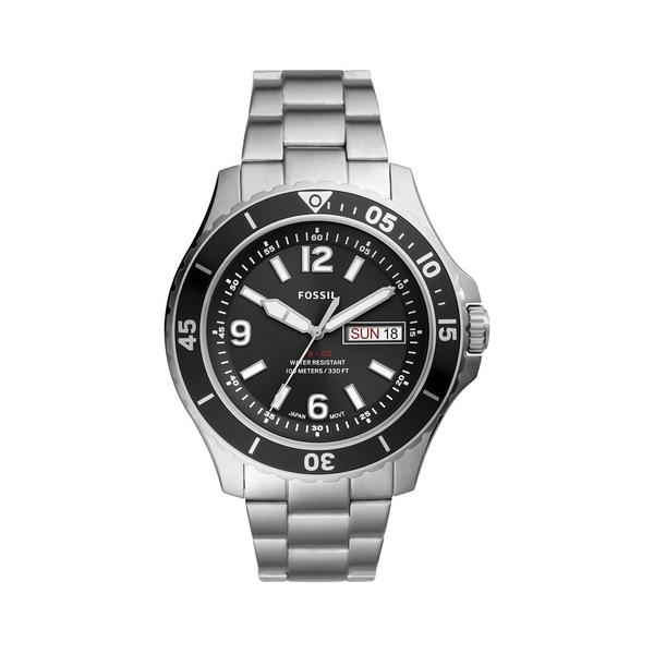 フォッシル レディース 腕時計 アクセサリー FB-02 Stainless Steel Bracelet 3-Hand Watch Silver