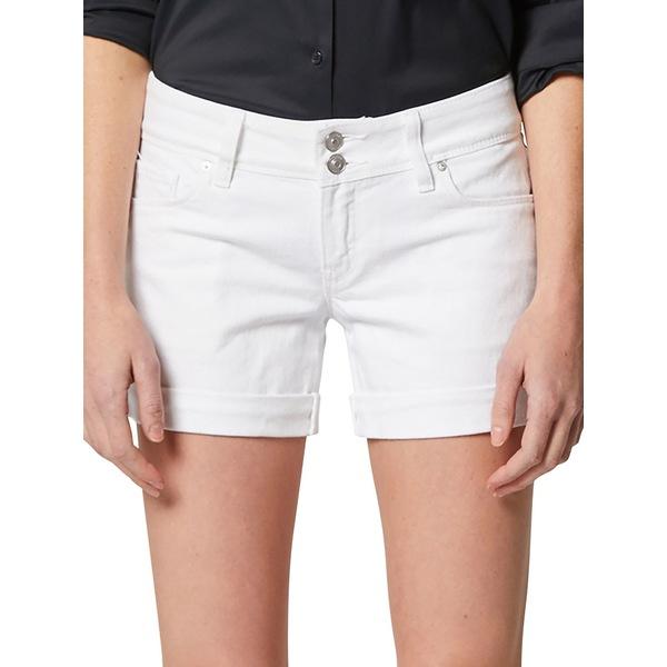 ハドソンジーンズ レディース デニムパンツ ボトムス Croxley Rolled-Cuff Shorts White