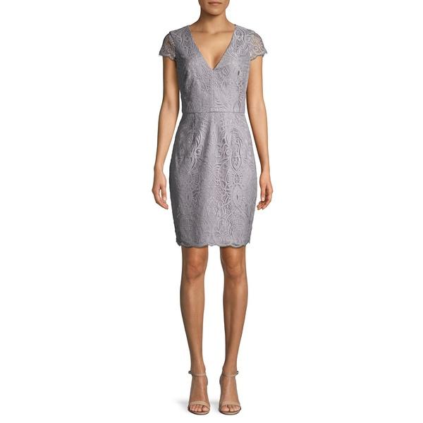 ヴィンスカムート レディース ワンピース トップス Embroidered Lace Sheath Dress Grey