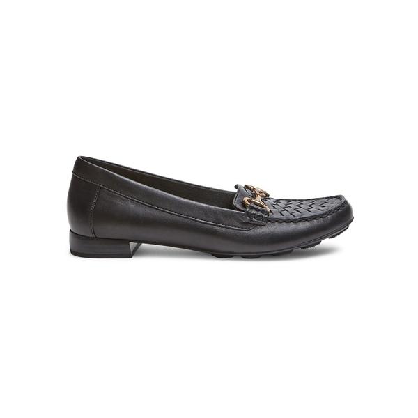 アンクライン レディース オックスフォード シューズ Hazina Slip-On Loafers Black