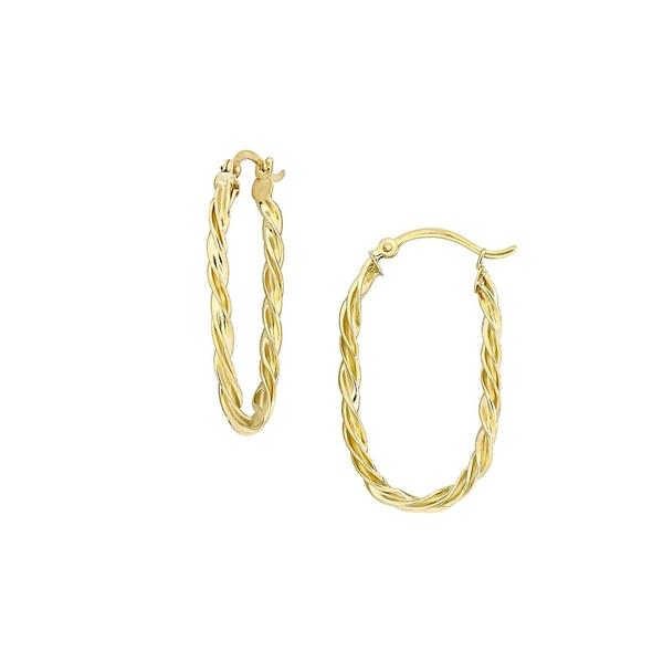 ソナティナ レディース ピアス&イヤリング アクセサリー 14K Yellow Gold Twist Hoop Earrings Gold