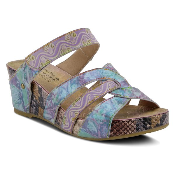 ラリティステ レディース サンダル シューズ L'Artiste Pinriyo Wedge Slide Sandal (Women) Lilac Leather