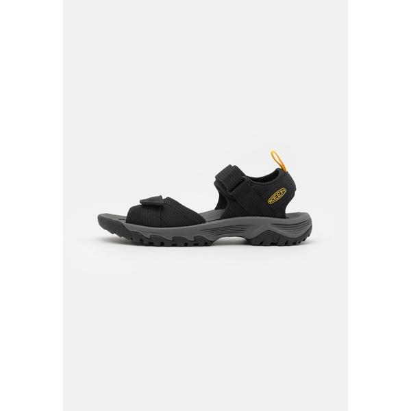 キーン メンズ サンダル シューズ TARGHEE III OPEN TOE - Walking sandals - black/yellow ftbz0292