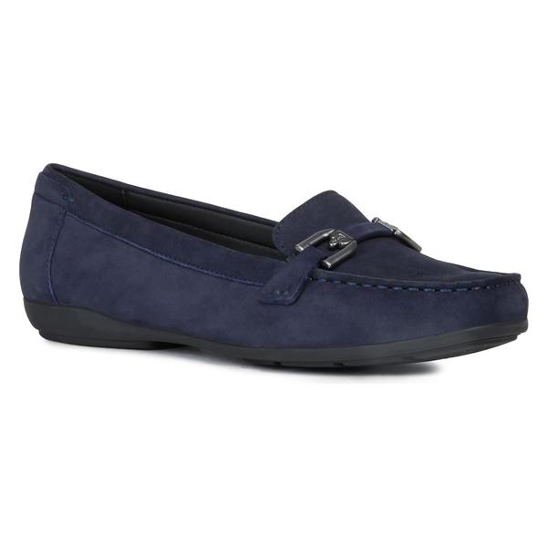 ジェオックス レディース サンダル シューズ Geox Annytah Loafer (Women) Dark Blue Nubuck Leather
