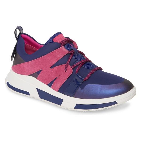 フィットフロップ レディース スニーカー シューズ FitFlop Carita Sneaker (Women) Aurora Blue Fabric