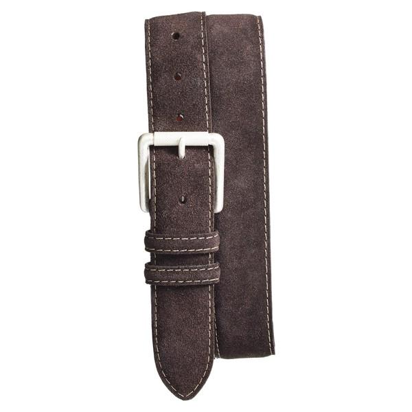 トリノ メンズ ベルト アクセサリー Torino Suede Belt Brown