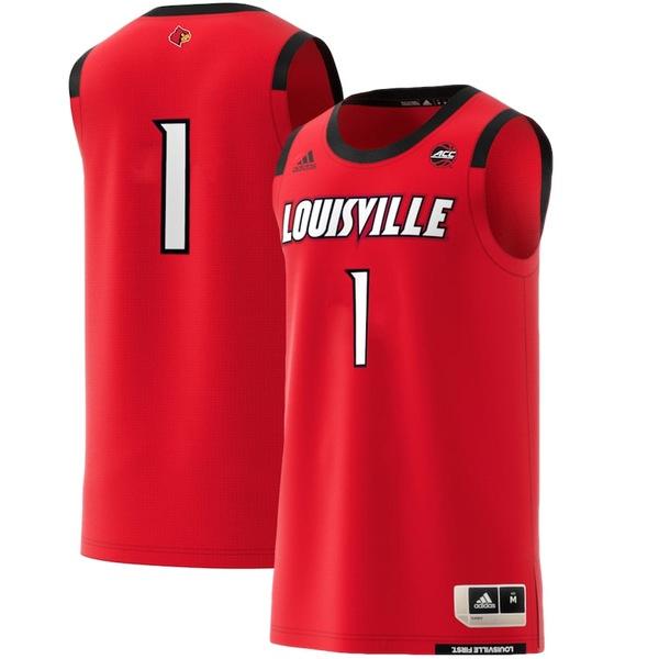 アディダス メンズ シャツ トップス Louisville Cardinals adidas Replica Swingman Jersey Red