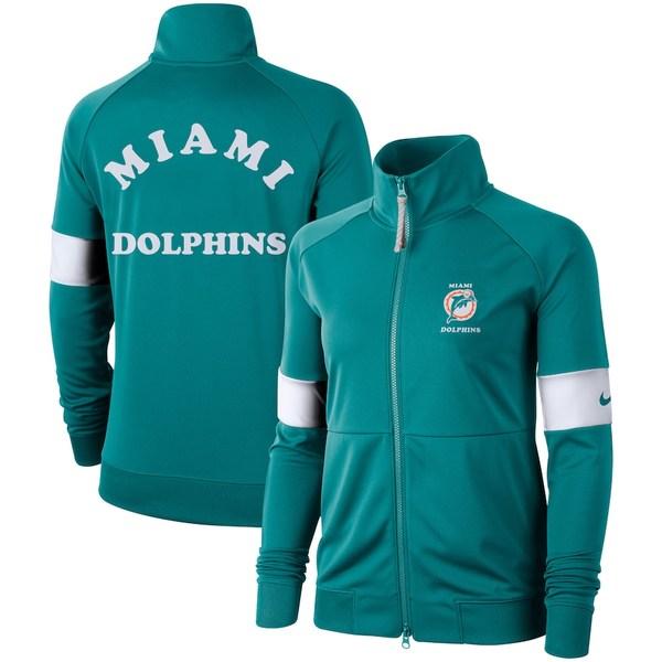 ナイキ レディース ジャケット&ブルゾン アウター Miami Dolphins Nike Women's Historic Full-Zip Jacket Aqua