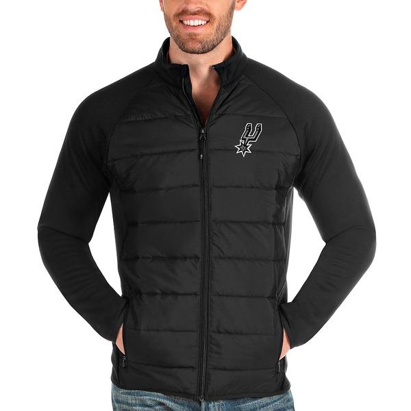 アンティグア メンズ ジャケット&ブルゾン アウター San Antonio Spurs Antigua Altitude Full-Zip Jacket Black