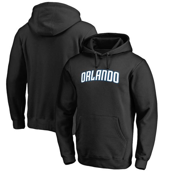ファナティクス メンズ パーカー・スウェットシャツ アウター Orlando Magic Fanatics Branded Alternate Logo Pullover Hoodie Black