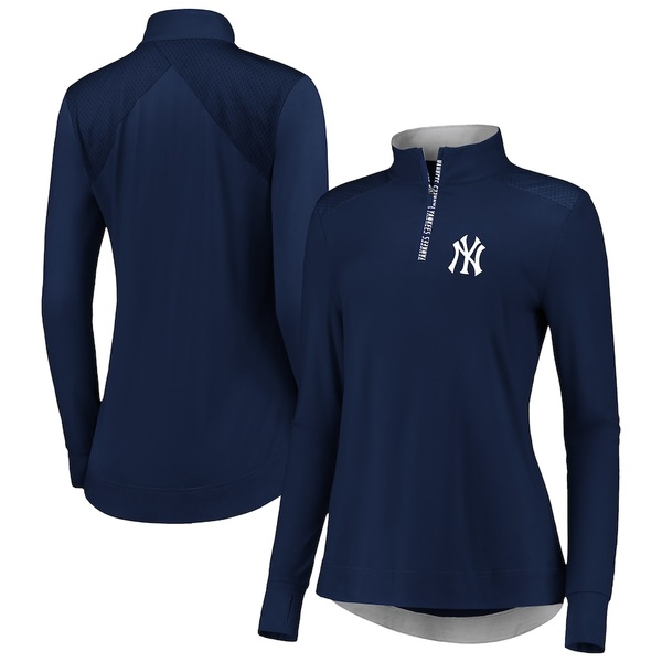 ファナティクス レディース ジャケット&ブルゾン アウター New York Yankees Fanatics Branded Women's Iconic Clutch Half-Zip Pullover Jacket Navy