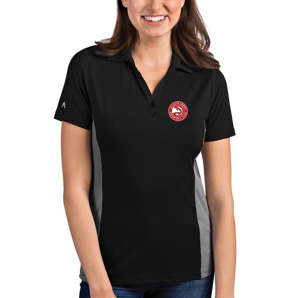 アンティグア レディース ポロシャツ トップス Atlanta Hawks Antigua Women's Venture Polo Black/White