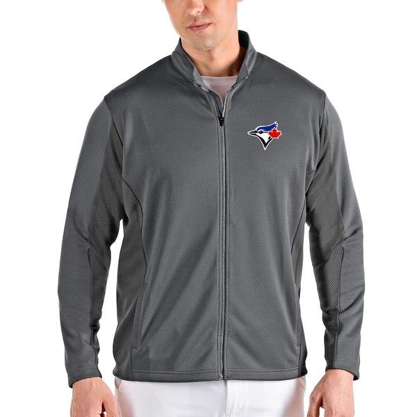 アンティグア メンズ ジャケット&ブルゾン アウター Toronto Blue Jays Antigua Passage Full-Zip Jacket Gray