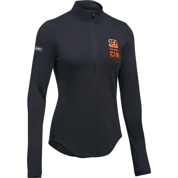 アンダーアーマー レディース ジャケット&ブルゾン アウター Cincinnati Bengals Under Armour Women's Combine Authentic Favorites Performance Tri-Blend Half-Zip Pullover Jacket Black
