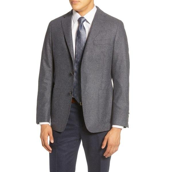 アウター MEDIUM Sport メンズ ヒッキーフリーマン Collection Wool Check ジャケット&ブルゾン Classic Fit Heritage BLU Coat