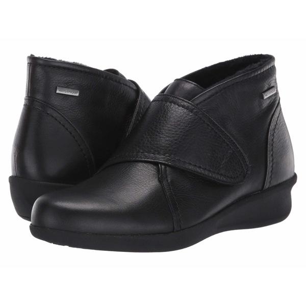 アラヴォン レディース ブーツ&レインブーツ シューズ Fairlee Instep Strap Black Leather