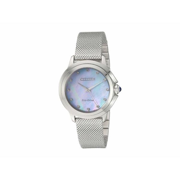 シチズンウォッチ レディース 腕時計 アクセサリー EM0790-55N Citizen Ceci Silver-Tone
