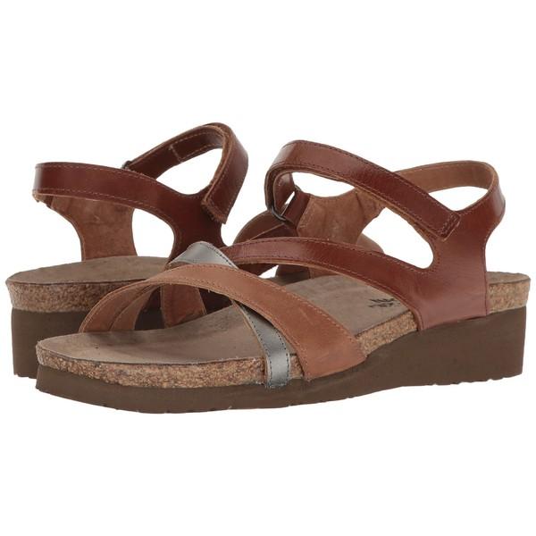ナオト レディース サンダル シューズ Sophia Maple Brown Leather/Latte Brown Leather/Mirror Leather